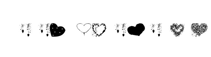 AEZ executive hearts  Free Fonts Download