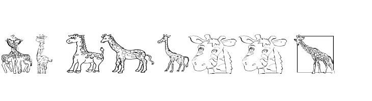 AEZ giraffes  Free Fonts Download
