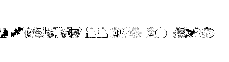 AEZ halloween dingbats  免费字体下载