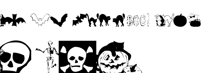 AEZ halloween dingbats Font Litere mari
