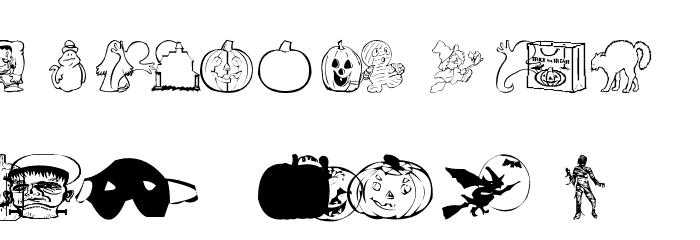 AEZ halloween dingbats Шрифта строчной
