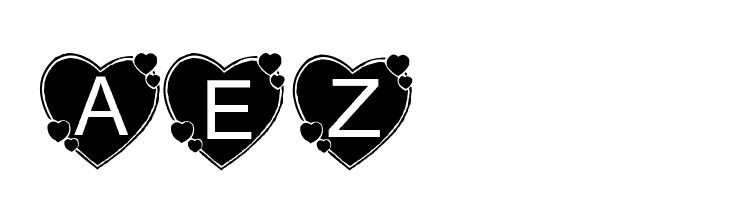 AEZbighearts  Free Fonts Download