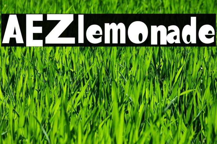 AEZlemonade Fonte examples