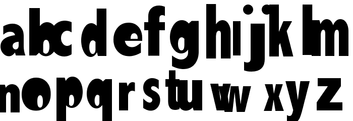 AEZlemonade Font LOWERCASE