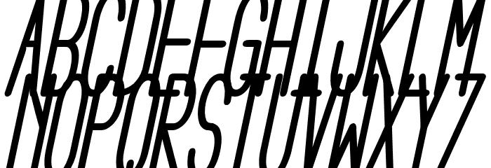 Aeg Flyon Now bold cursive Italic Font UPPERCASE