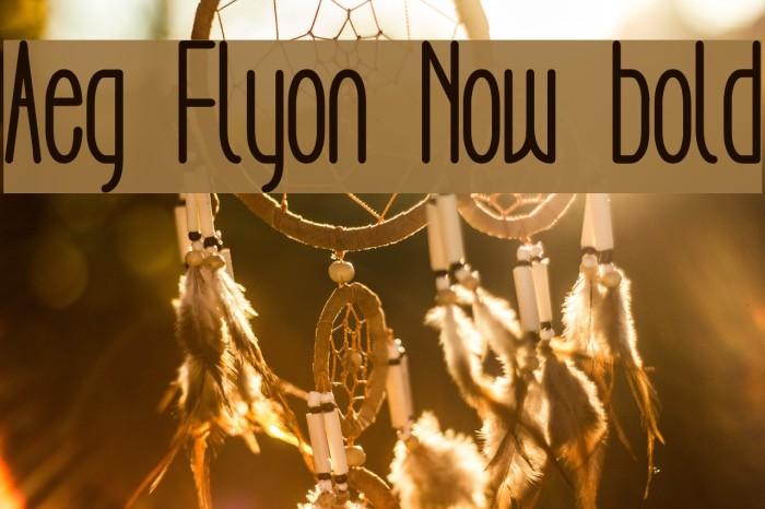 Aeg Flyon Now bold फ़ॉन्ट examples