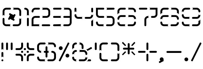 Aegris Stencil Caratteri ALTRI CARATTERI