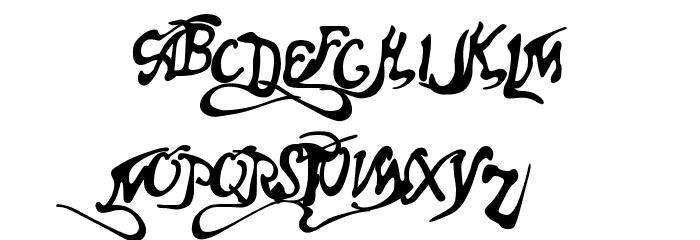 Aero Font One Font UPPERCASE