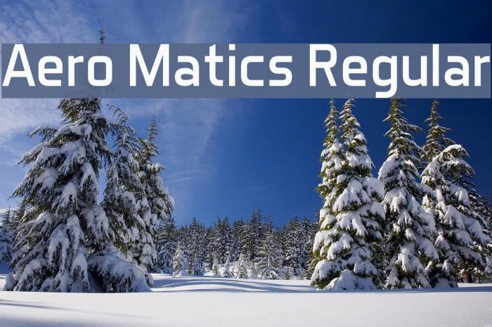 Aero Matics Regular Fuentes examples