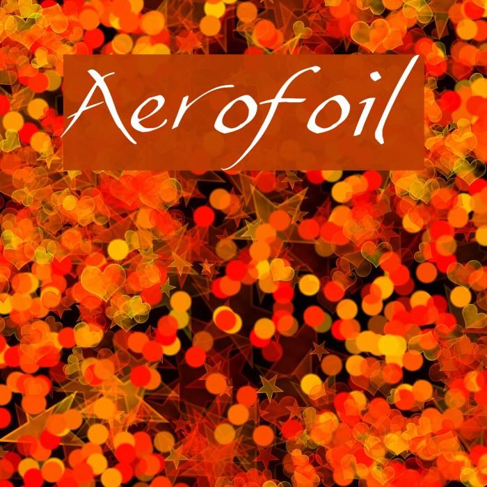 Aerofoil फ़ॉन्ट examples
