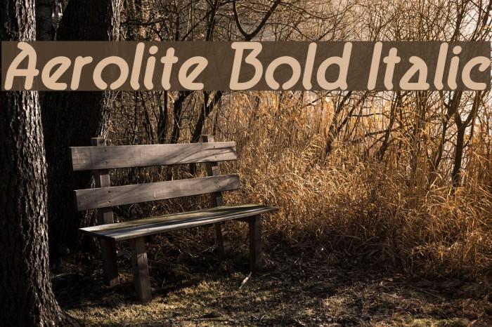 Aerolite Bold Italic Fonte examples