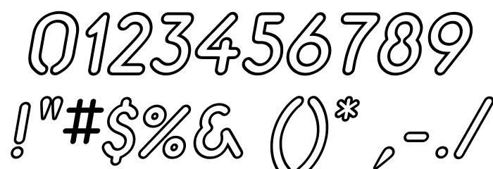 Aerolite Sky Italic Шрифта ДРУГИЕ символов
