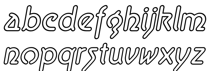 Aerolite Sky Italic Шрифта строчной