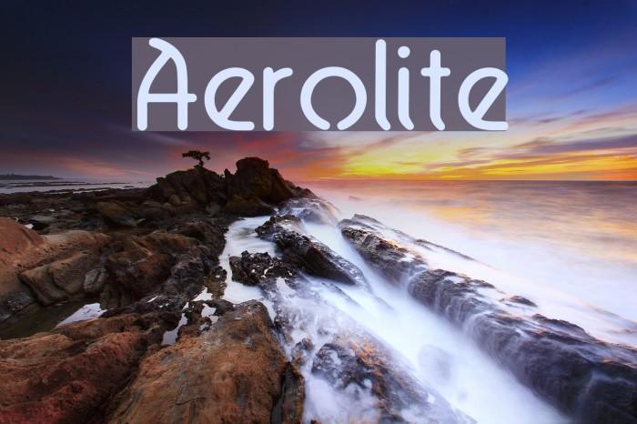Aerolite Fonte examples