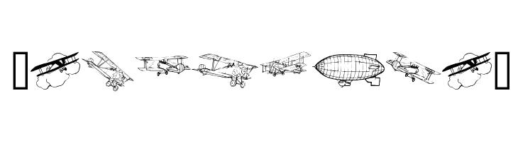 Aeroplanes  Free Fonts Download