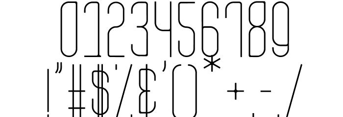 Aesthete Light Font OTHER CHARS