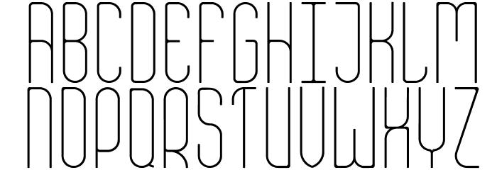 Aesthete Light Font UPPERCASE
