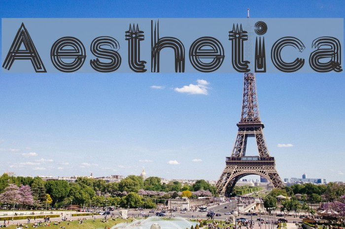 Aesthetica Font examples