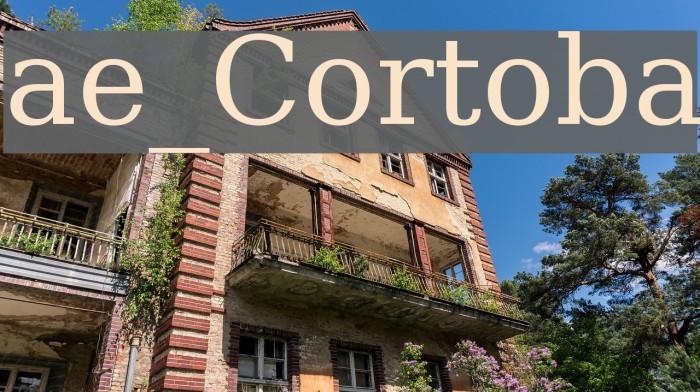 ae_Cortoba Font examples