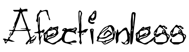 Afectionless  नि: शुल्क फ़ॉन्ट्स डाउनलोड