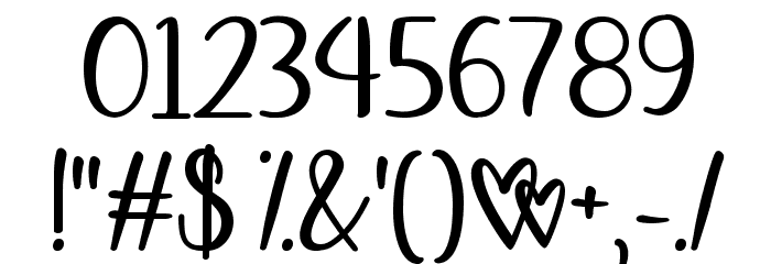 Affectionately Yours Font OTHER CHARS