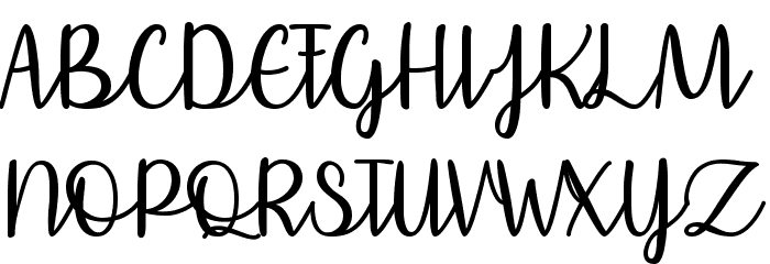 Affectionately Yours Font UPPERCASE