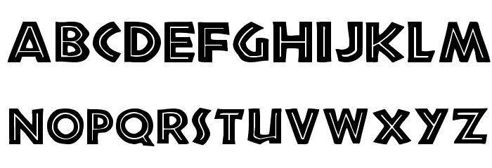 African Font LOWERCASE