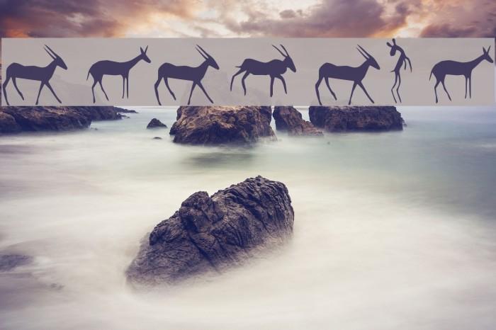 Afrika RockArt F Animals1 Regular Fonte examples