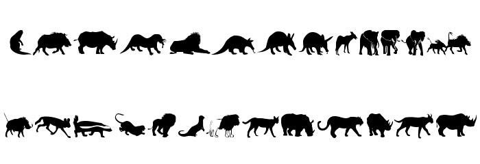 Afrika Wildlife B Mammals2 Font Litere mari