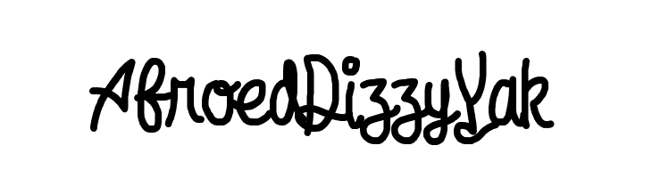 Afroed Dizzy Yak  नि: शुल्क फ़ॉन्ट्स डाउनलोड