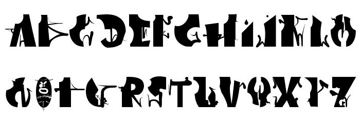 Afronsu Font Litere mari