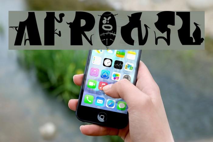 Afronsu Font examples