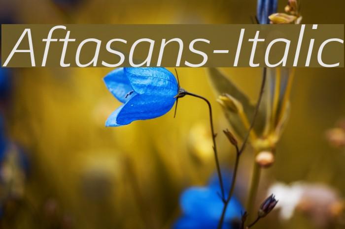 Aftasans-Italic لخطوط تنزيل examples