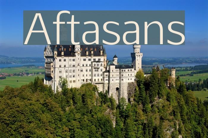 Aftasans Font examples