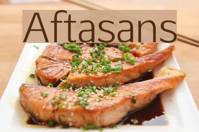 Aftasans फ़ॉन्ट examples