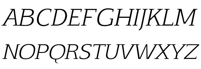 Aftaserif-Italic फ़ॉन्ट अपरकेस