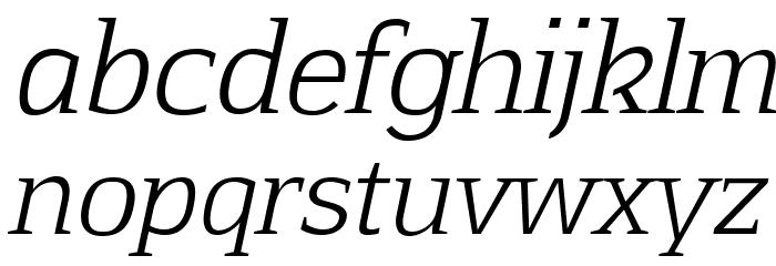 Aftaserif-Italic फ़ॉन्ट लोअरकेस