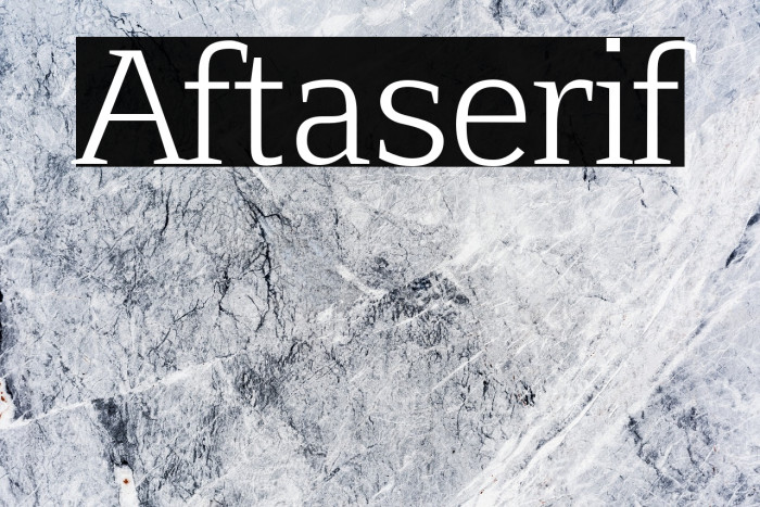 Aftaserif Font examples