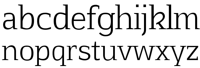 Aftaserif Font LOWERCASE