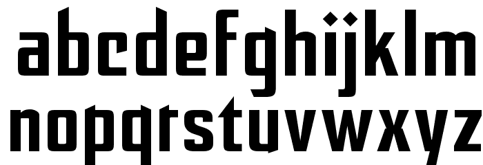 After Disaster Font LOWERCASE