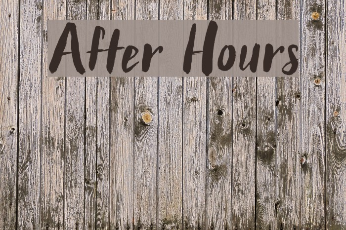 After Hours फ़ॉन्ट examples