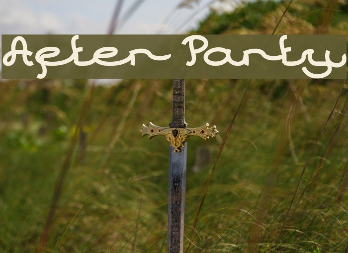 After Party Font examples