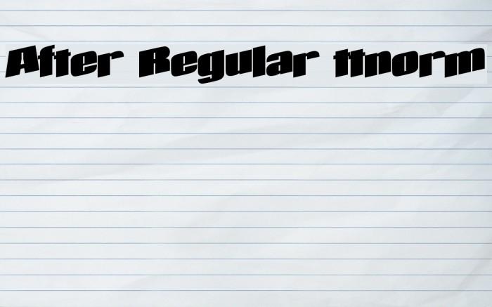 After Regular ttnorm Font examples