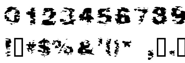 After Shok Font OTHER CHARS
