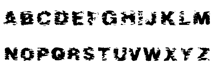 After Shok Font LOWERCASE