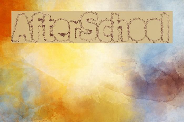 AfterSchool Font examples