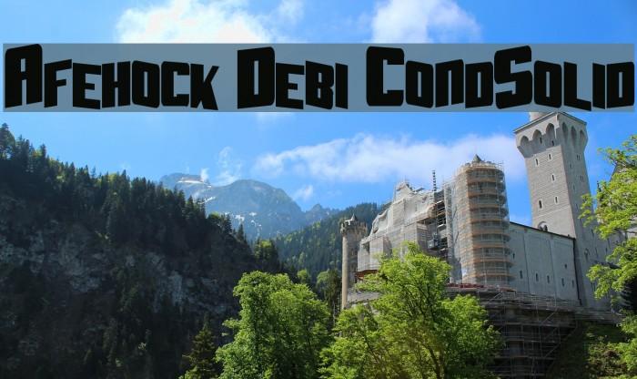 Aftershock Debris CondSolid Fonte examples