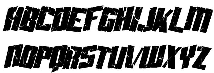 Aftershock Debris Condensed Italic Fonte MAIÚSCULAS