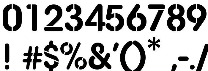 AG Stencil Font OTHER CHARS