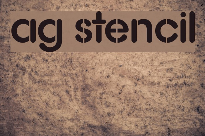 AG Stencil Font examples